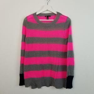 MNG Mango Knit Sweater Pink & Gray Stripe